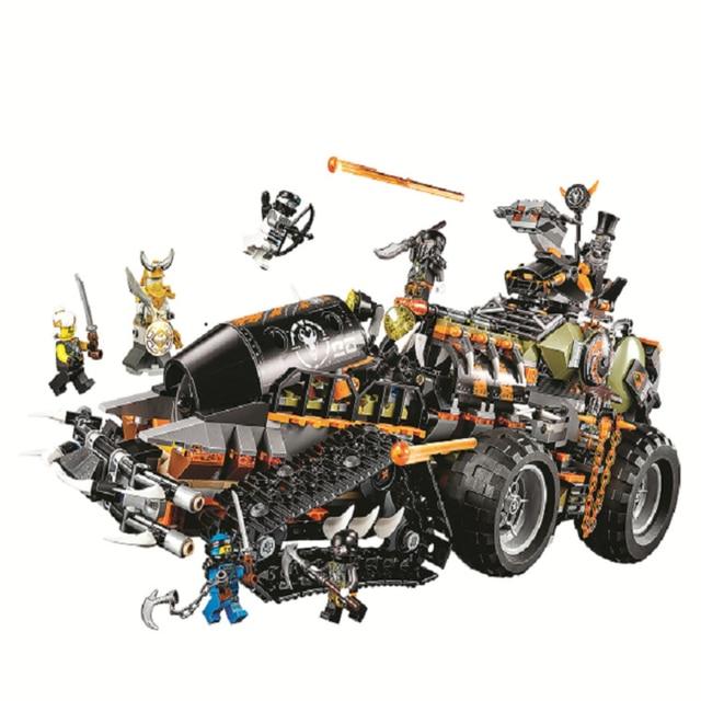 NOVO 10939 Brinquedos Tijolo compatível Legoinglys Ninjagoed 70654 Dieselnaut Definir Blocos de Construção de Tijolos Crianças Brinquedos Para Crianças 1221pcs