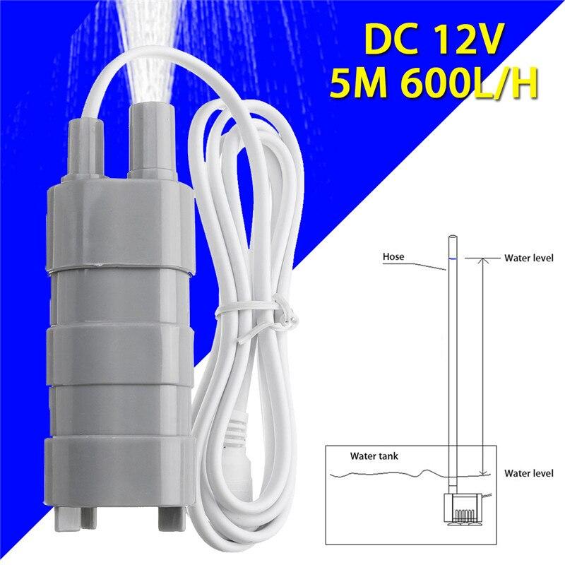 12 V bomba de agua sin escobillas magnético sumergible 5 M 600L/H bomba de agua para el jardín estanque de peces fuente acuario