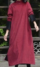 Новая версия продукта в осенью 2016 года оригинальный дизайн вельвет женские свободные большие ярдов длинные хлопка мягкой одежды