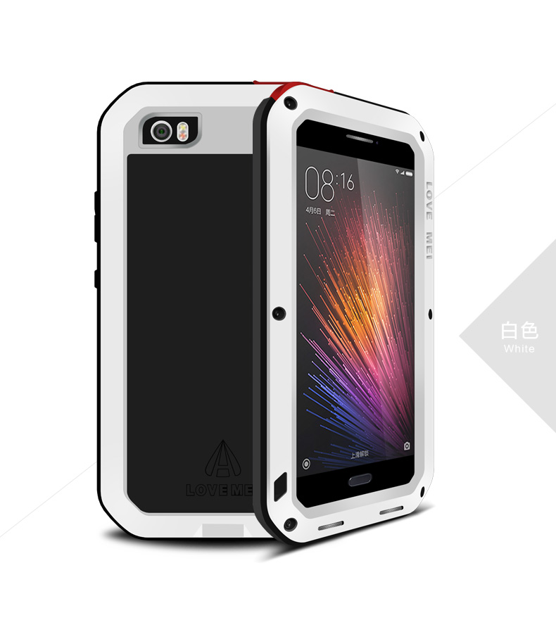best service 29db1 cfe82 US $29.88 |LOVE MEI Powerful Life Waterproof Aluminum Phone Cases for  Xiaomi Mi5 Pro/ mi 5 m5 Metal Cover Housing Coque with Fingerprint on ...