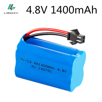 4.8v 1400mah Ni-Cd Battery nicd AA 4.8v rechargeable battery pack for RC cars 4.8v RC boat toy Battery 4.8 V 1400 Ni-Cd Battery image