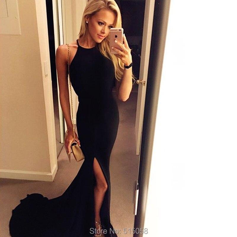 Black Halter Top Cocktail Dress