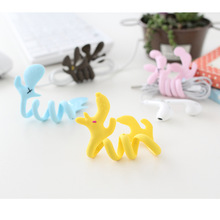 10PCS Good Gifts Honey Dog Style Bending Strip Earphone Cable Wire Cord Organizer Holder Winder For Headphone Wire Storage