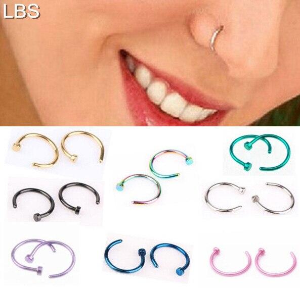 European Fashion Medical Titanium Steel 316l Nose Ring Fake Nose