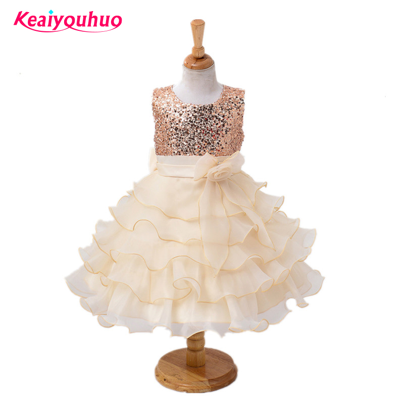New Sequins Wedding Princess Part dress for Toddler Girls Clothes Girl Dresses Kids tutu Dress Children Clothing Birthday 6 7 8