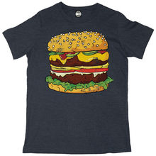 GIANT FAST FOOD BURGER MENS FUN NOVELTY FASHION PRINT T-SHIRT New T Shirts Funny Tops Tee Unisex
