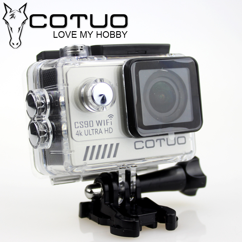 COTUO CS90 NTK96660 4K Ultra HD Sports Action Camera 2K 30fps Gyro 2.0 LCD 30m Waterproof Diving go SJ mini camDV 5000pro WiFi