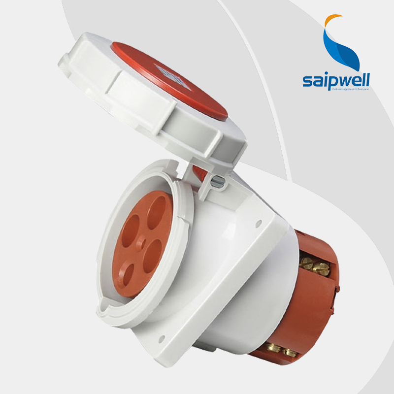 цена на Wholesale Saipwell 400V 125A 4P ( 3P+E ) industrial electrical socket IP67 EN / IEC 60309-2 Heavy Duty Connector SP-212