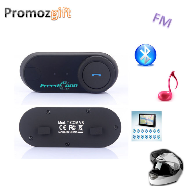 Envío libre!! 2 UNIDS FreedConn Marca Moto de La Motocicleta BT Bluetooth Headset Multi Interphone Del Intercomunicador Del Casco Con Radio FM