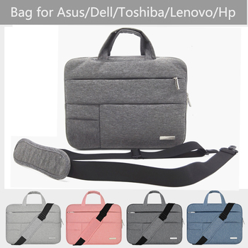 Nylon 11 12 13 14 15.4 15.6 Cal torba na laptopa do Dell Asus Acer Lenovo apple Macbook Air Pro retina Notebook torba na ramię