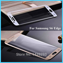 hot deal buy for samsung s 6 edge colorful full cover glass tempered film screen protector for samsung galaxy s6 edge g9250 3 color