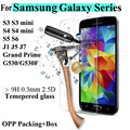 Protector de pantalla de vidrio templado para Samsung Galaxy S6 S5 S4 S3 mini A3 A5 A7 A8 J1 J3 J5 J7 2016 Grand primer película protectora