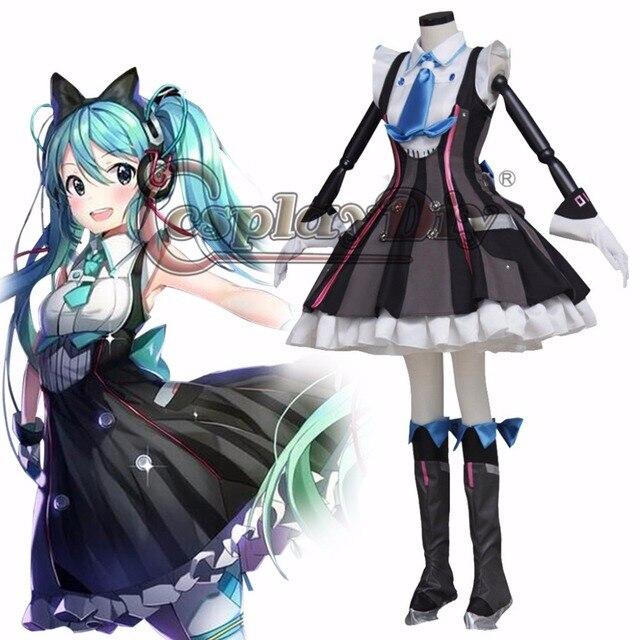 Cosplaydiy Hatsune Miku Vocaloid Fancy Dress Cosplay Costume