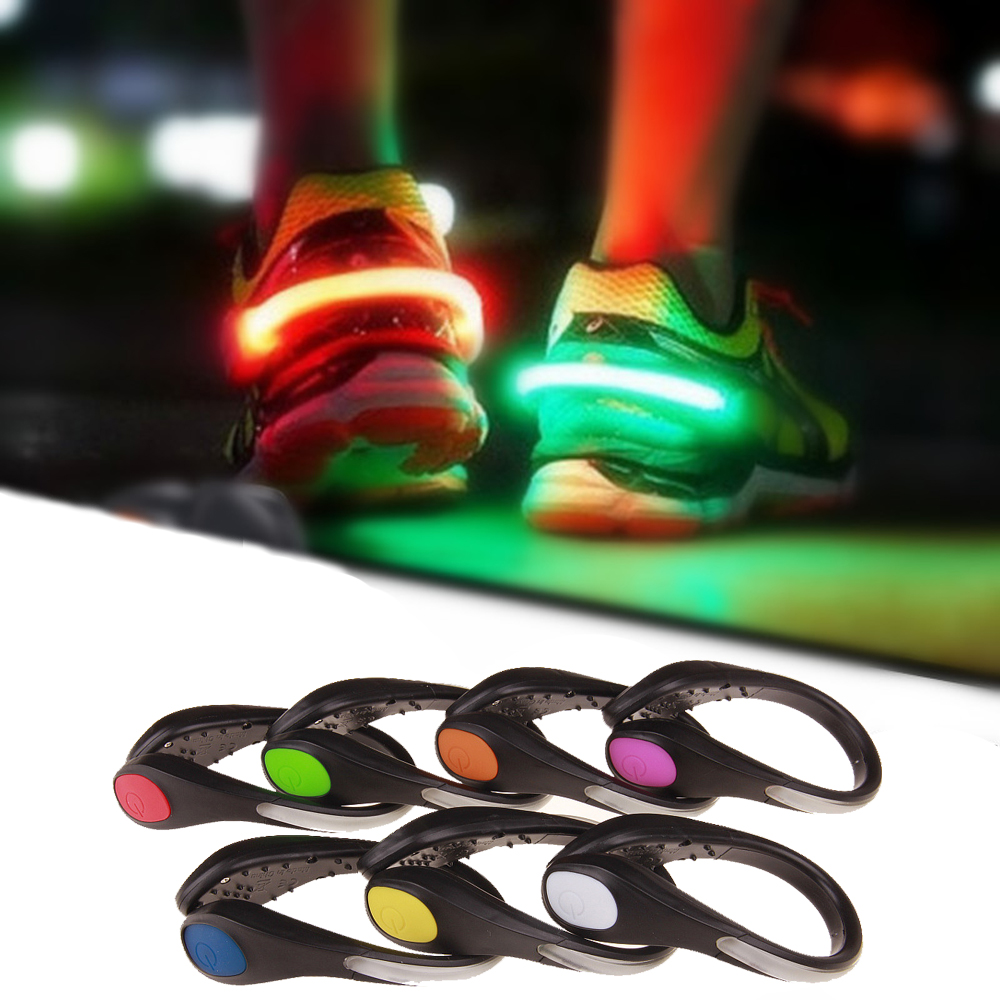LED Luminous Shoe Clip Outdoor Bicycle Night Running Sports Game Safety Warning Light Flashing Toy Novelty Toys For Children