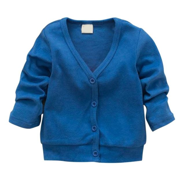 Baby Kid Clothing V-neck Cardigan Thick Cotton Jacket Coat New Lovely Tops 0-3Y