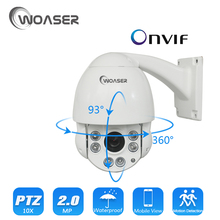 "WOASER Mini 4"" 10X Optical Zoom PTZ IP Camera Speed Dome Camera IP(SONY IMX322) Outdoor Waterproof 5.1-51MM Lens ONVIF CCTV Cam"