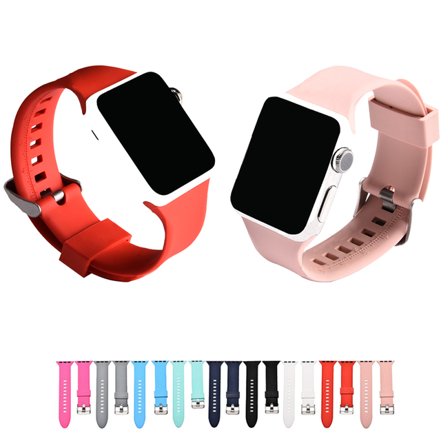 b4816815416 CRISTA esporte silicone watch strap para apple watch band 38 42mm mm de  borracha pulseira de