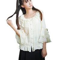 Nuovo magicpotion gothic lolita camicia dolores haze cosplay kawaii donna camicetta bianca lo peplo magliette e camicette tee camicia di pizzo vestidos aw354
