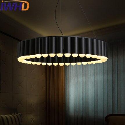Iwhd гладить Lampara LED Открытый Подвесные Светильники современная мода 39 Тыква головок подвесной светильник творческий Спальня Кухня Iluminacion Осв