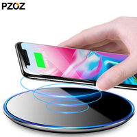 Pzoz Wireless Charger Universal Mobile Phone Qi Fast Wireless Charging Pad 3 0 Quick For Iphone