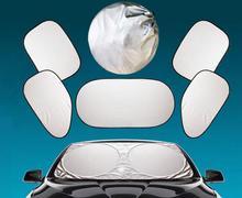 6 Pcs/Set Silver Aluminium Foil Flap Car Sun Shade Window Car Curtain Auto Sun Shade Styling Covers Rear Head Back Side Window