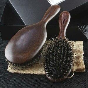 Image 1 - Профессиональная расческа для волос Sandalwood, Антистатическая щетка для волос, для ухода за здоровьем, для укладки волос