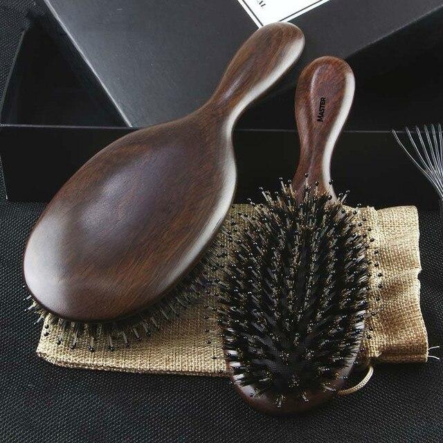 Профессиональная расческа для волос Sandalwood, Антистатическая щетка для волос, для ухода за здоровьем, для укладки волос