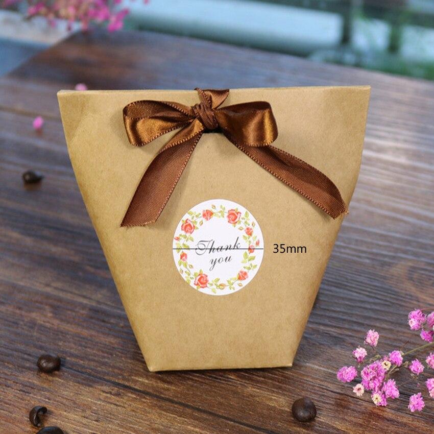 Купить с кэшбэком 120pcs/lot Small Fresh Thank You Paper Decorative Seal Sticker For Gifts