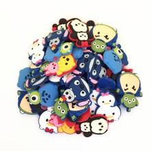 100pcs/lot Lilo Stitch Minnie various styles cartoon shoe accessories shoe charms , shoe decoration fit clog for children gift