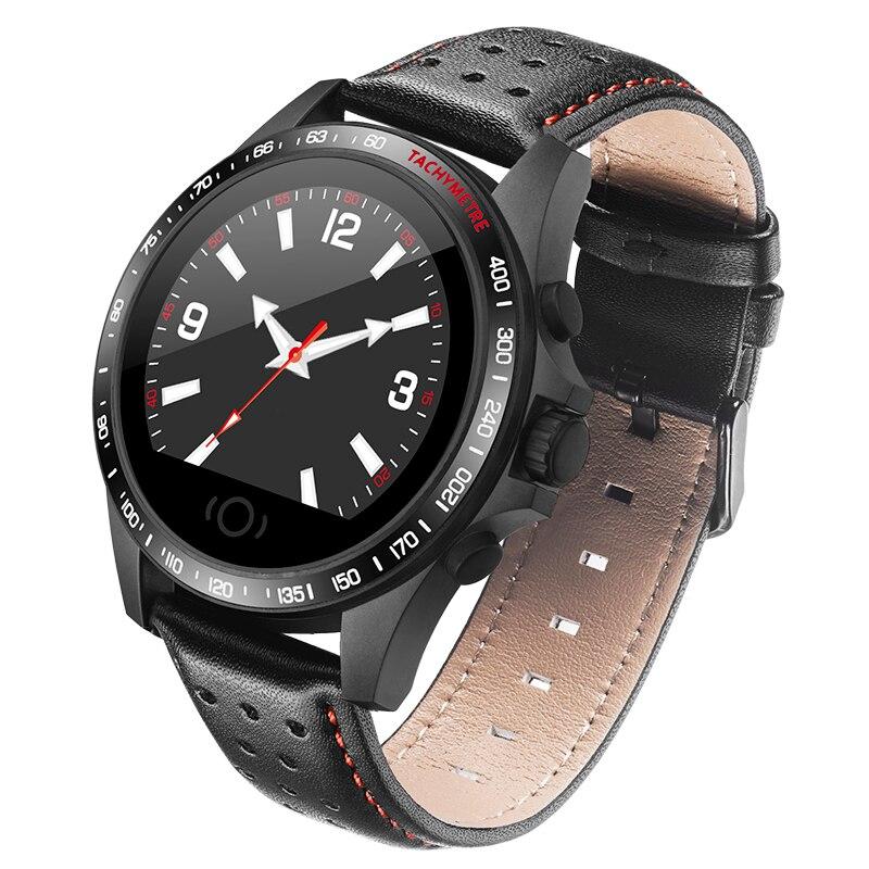 Leather Sport Smart Watch Men IP67 Waterproof Heart Rate Monitor Blood Pressure Men Women Smartwatch for