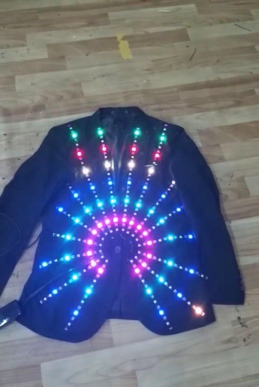 Светодиодный костюм праздничный вечерние поставки люминесцентный светящийся костюмы/выступлений/костюм робота