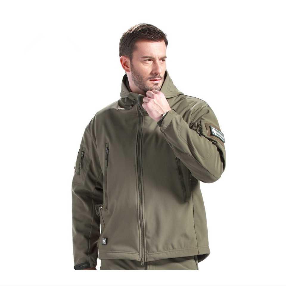 Tad Outdoor Tactische Soft Shell Camouflage Jas Set Mannen Leger Sport Waterdichte Jacht Kleding Militaire Jas + Broek