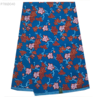 Precio Holesale tela de impresión de cera Africana/Azul colgando diseño de la vid Ankara tela de la cera batik para mujeres de la manera vestidos P78GD037-045