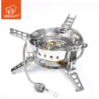 BULin BL100-B17 Outdoor Camping Big Power Gas Stove  Windproof  Portable Split Gas Burner for Outdoor Cooking BBQ Camping Hiking bulin s03 foldable outdoor stove ultralight stove power camping integrated split gas stove furnace for outdoor survival tools
