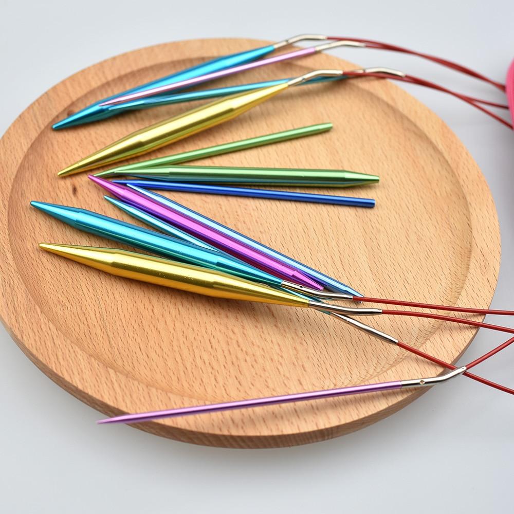 KOKNIT Crochet Hook Set 26PCS Circular DIY Knitting Needles Change Head Needle For Women DIY Craft Sewing Accessories With Case 6