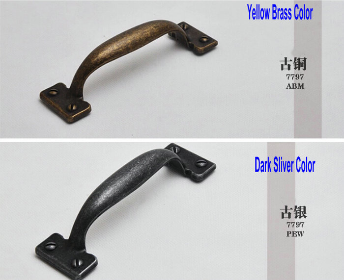 132MM/5INCH American Retro Antique Type Cupboard Closet Cabinet Furniture Handle Knob Drawer Locker Pull Free Screws Two Color132MM/5INCH American Retro Antique Type Cupboard Closet Cabinet Furniture Handle Knob Drawer Locker Pull Free Screws Two Color