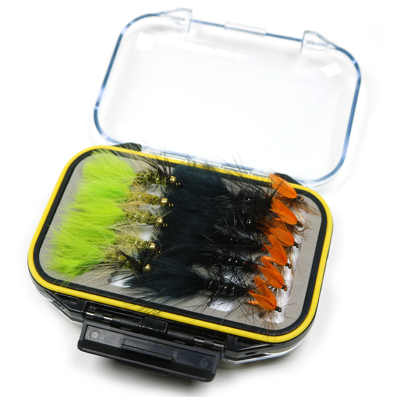 [32pcs/Set] Fly Flies Box Bead Head Wooly Bugger Streamer Fly Trout Fishing Lure Baits