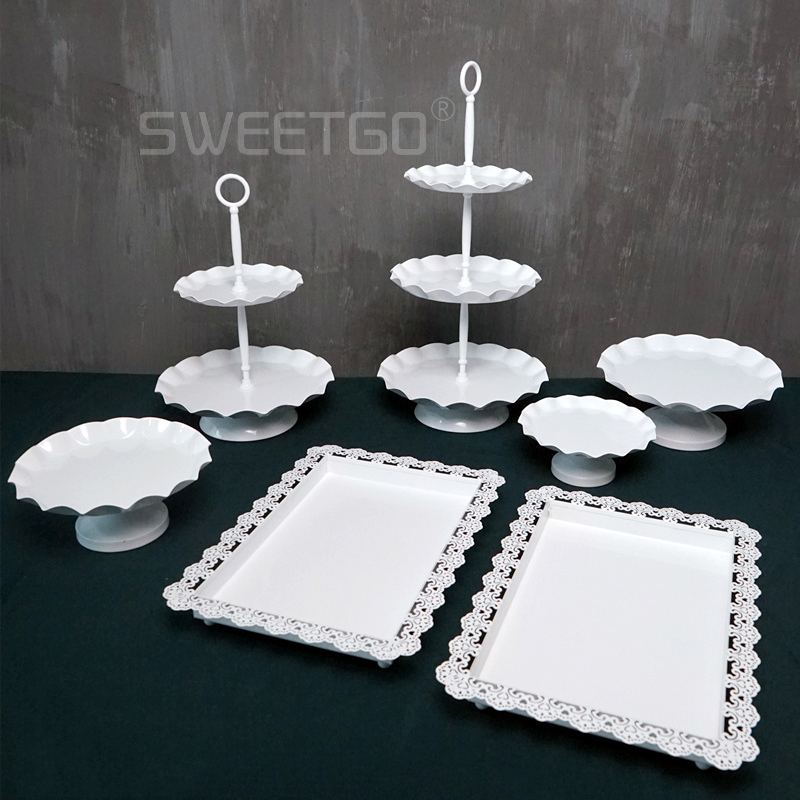 wholesale wedding cake stands sweetgo high quality cake stand set 7 pieces fondant cake 1390