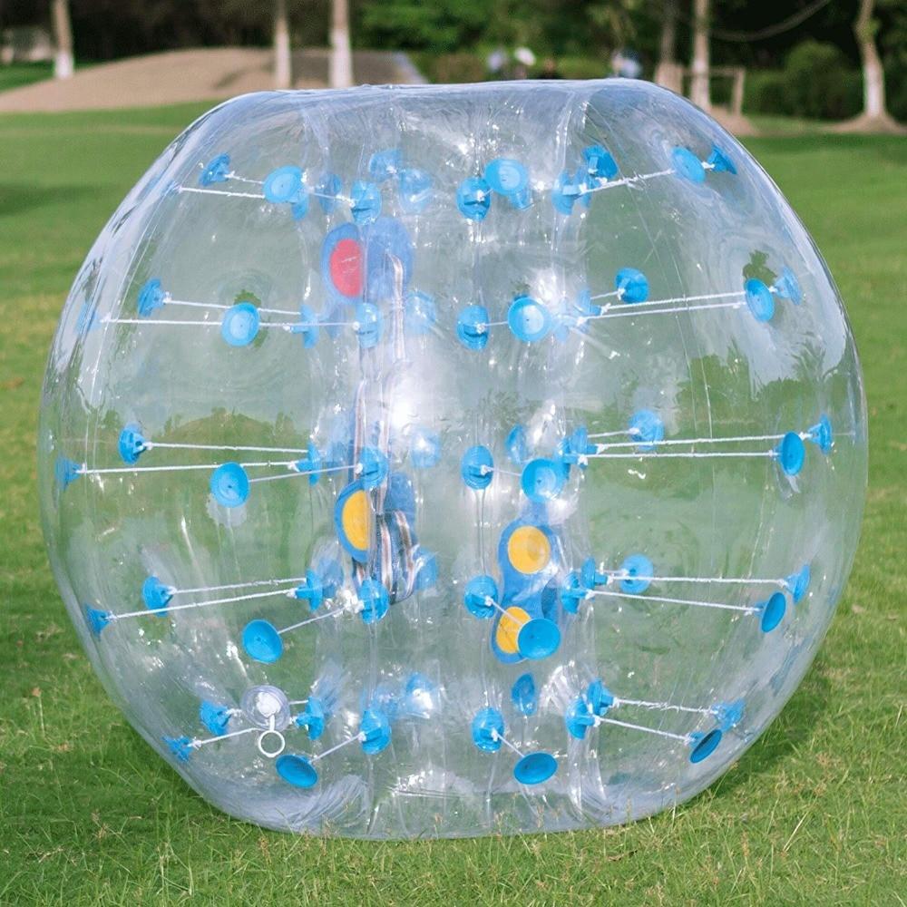 100% z tworzywa TPU pęcherzyków powietrza piłka nożna Zorb piłka 1 M 1.2 M 1.5 M 1.7 M powietrza kula bumper dla dorosłych nadmuchiwane Bubble piłka nożna, zorb piłkę. w Piłki do zabawy od Zabawki i hobby na  Grupa 2