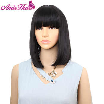 Amir Straight Hair Bob Wigs Short Synthetic Hair Wigs For Black Women High temperature Fiber Black ,brown burgundy colors - DISCOUNT ITEM  28 OFF Hair Extensions & Wigs