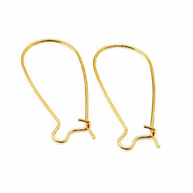 50 Pcs gold Silver Nickel colored Silver Tone Ear Wire Hook   Jewelry Findings Wholesale