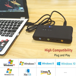 Image 5 - USB2.0 sound card add on cards Cmi 6206 Chipset USB 7.1 Sound Card with SPDIF & USB Extension Cable  remote wake up support