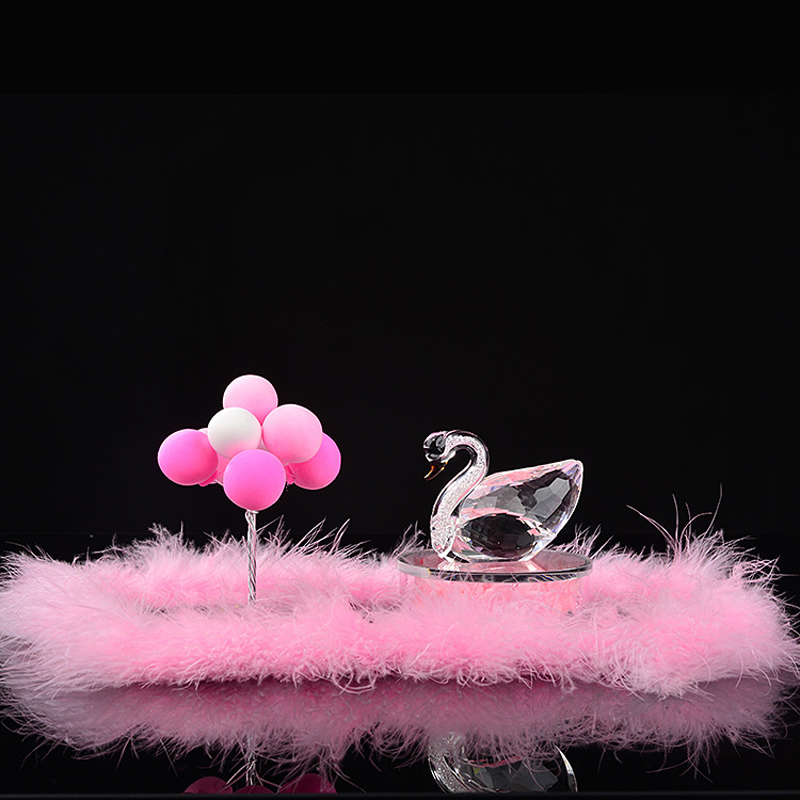 Cristal cygne voiture ornement décoration intérieur voiture Air parfum véhicule tableau de bord ornement ballon cadeau présent pour les filles femmes