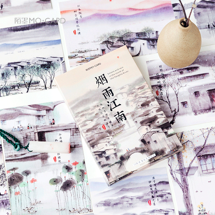 30 Sheets/Set Jiangnan Ancient Town Series Postcard /Greeting Card/Message Card/Christmas And New Year Gifts Cards