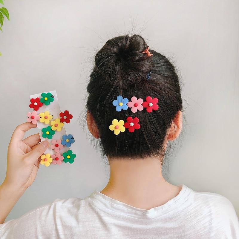 1PC Ins New Fashion Women Girls Cute Colorful Silica Gel Flower Barrettes Sweet Hair Clips Headband Hairpins Hair Accessories