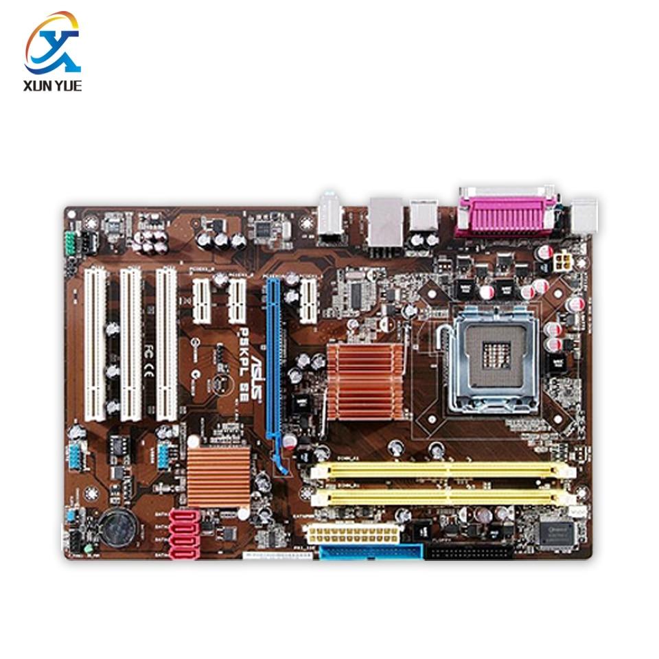 P5KPL SE Original Used Desktop Motherboard Intel G31 Socket LGA 775 DDR2 4G SATA2 UBS2.0 ATX intel g31 micro atx lga 775 ddr2 computer motherboard blue silver