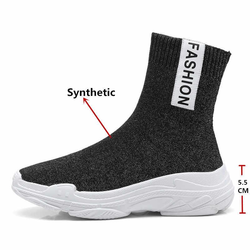 FEDONAS Kadın yarım çizmeler Yüksek Topuk Yuvarlak Ayak Çizmeler Kadın Kısa Kauçuk Şövalye Çizmeler Marka Streç Çizmeler dans ayakkabıları Kadın