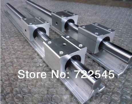 Linear Rail Set Diameter 20 mm 2xSBR20 -1000 mm + 4xSBR20UU Block For CNC Parts SetLinear Rail Set Diameter 20 mm 2xSBR20 -1000 mm + 4xSBR20UU Block For CNC Parts Set