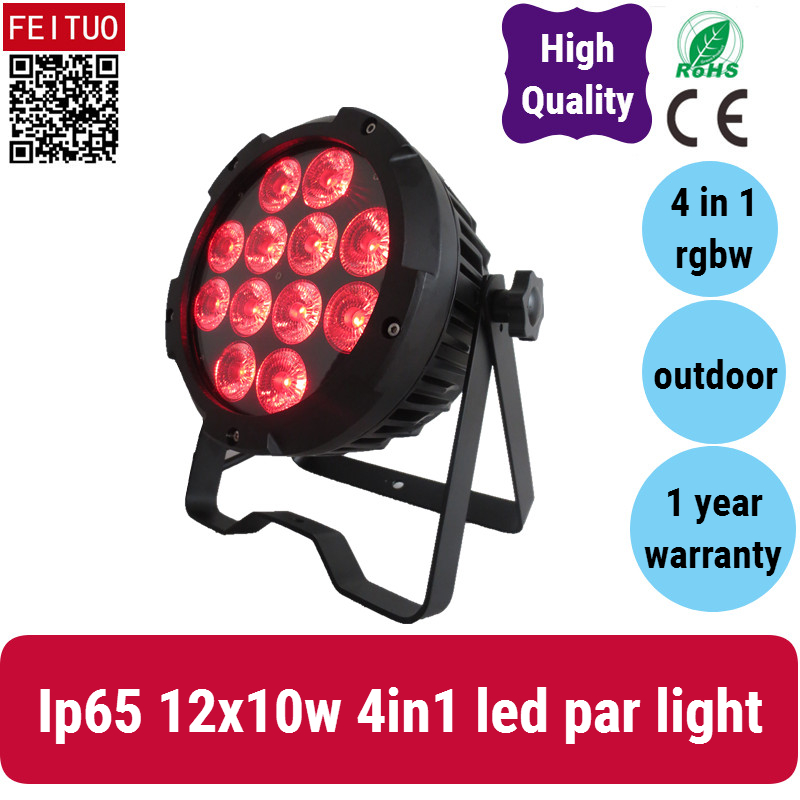 A 2xlot Outdoor uplighting led par wall wash rgbw 10w led flat par 12x10w rgbw 4in1 par led ip 65