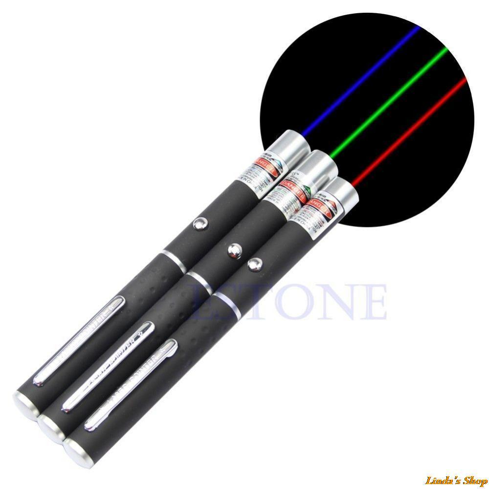 3 Colors Powerful Purple Red Green 405nm 5mw Laser Pointer Pens 500-1000 Meters Presenter Remote Pointer